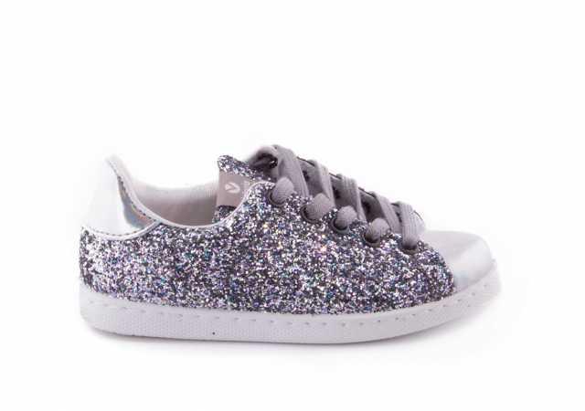 ea76af42c31c Comprar zapato tipo JOVEN NIÑA estilo DEPORTIVO COLOR PLATA GLITTER ...