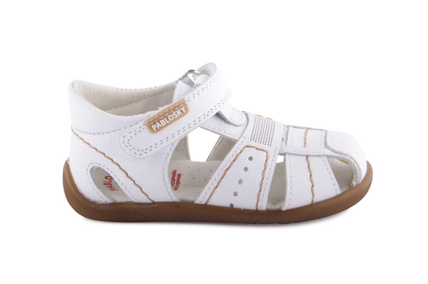 2bc792bfa2e Comprar zapato tipo PREANDANTE NIÑO estilo SANDALIA COLOR BLANCO ...