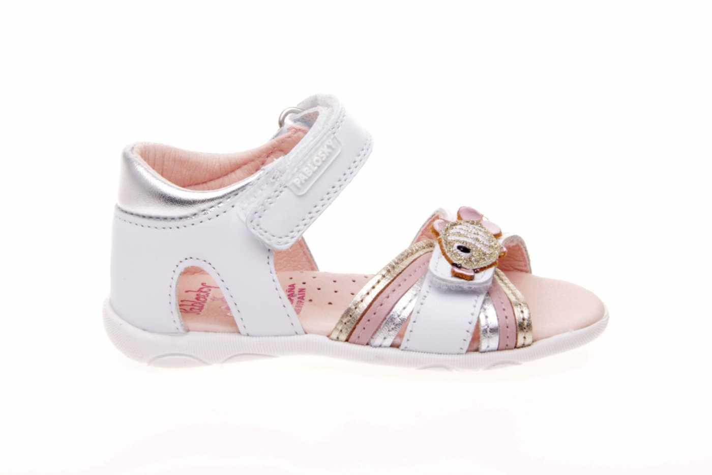 76550cdf6 Comprar zapato tipo PREANDANTE NIÑA estilo SANDALIA COLOR BLANCO ...