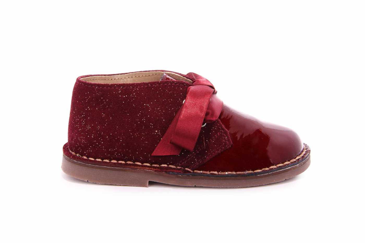 Comprar zapato tipo JOVEN NIÑA estilo BOTAS COLOR BURDEOS CHAROL ... 185163c87d947