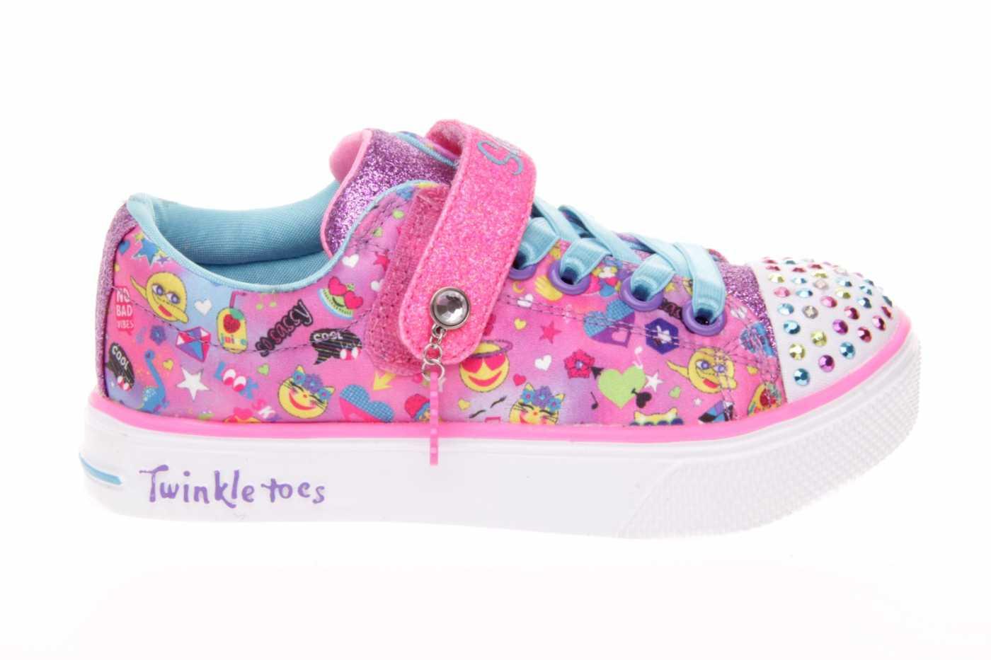 paquete de moda y atractivo zapatos elegantes envío directo LONA SKECHERS NIÑA CON LUCES Y VELCRO