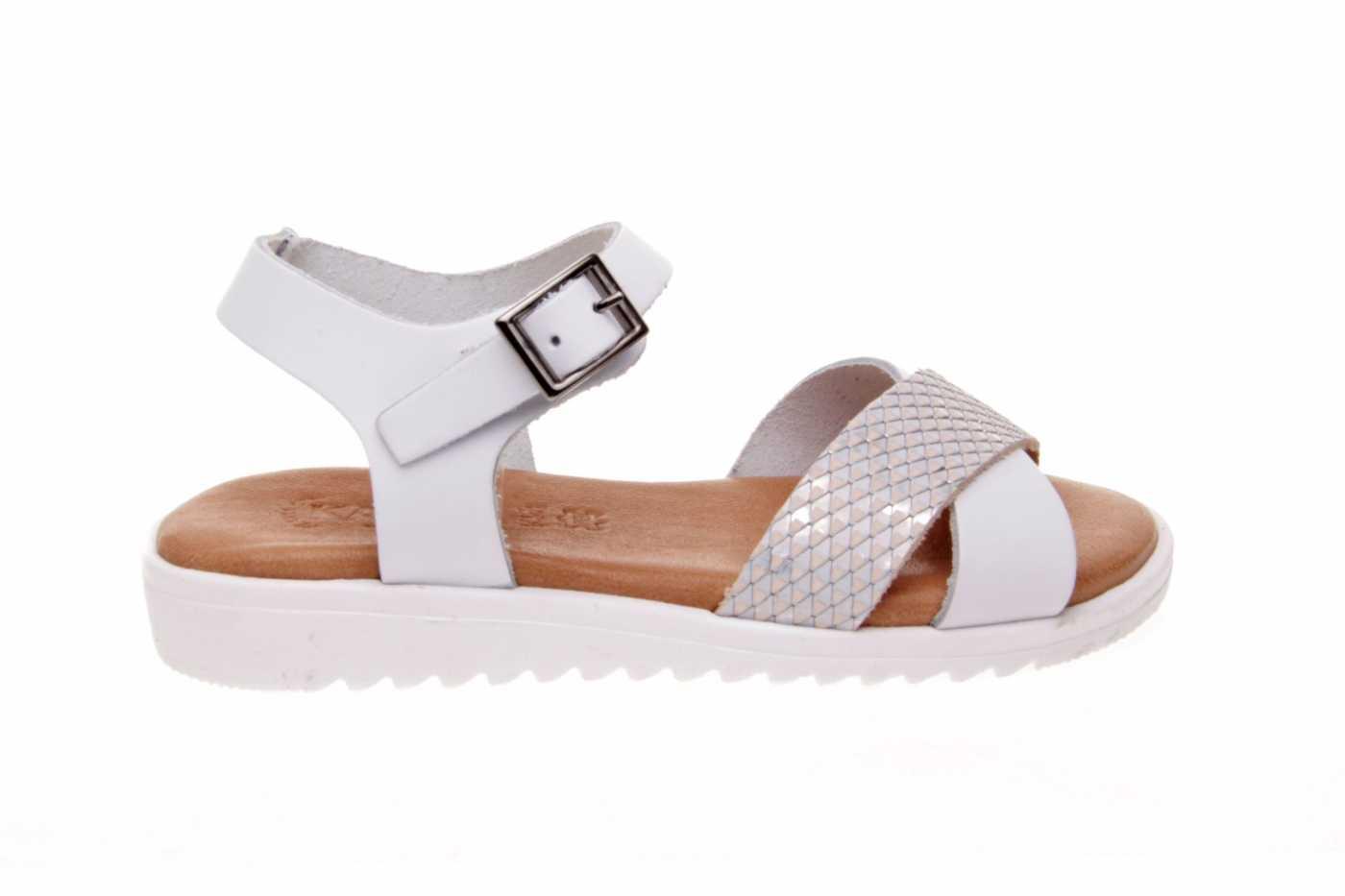 Piel Joven Comprar Zapato Tipo Niña Sandalia Color Blanco Estilo XZwOkuTlPi
