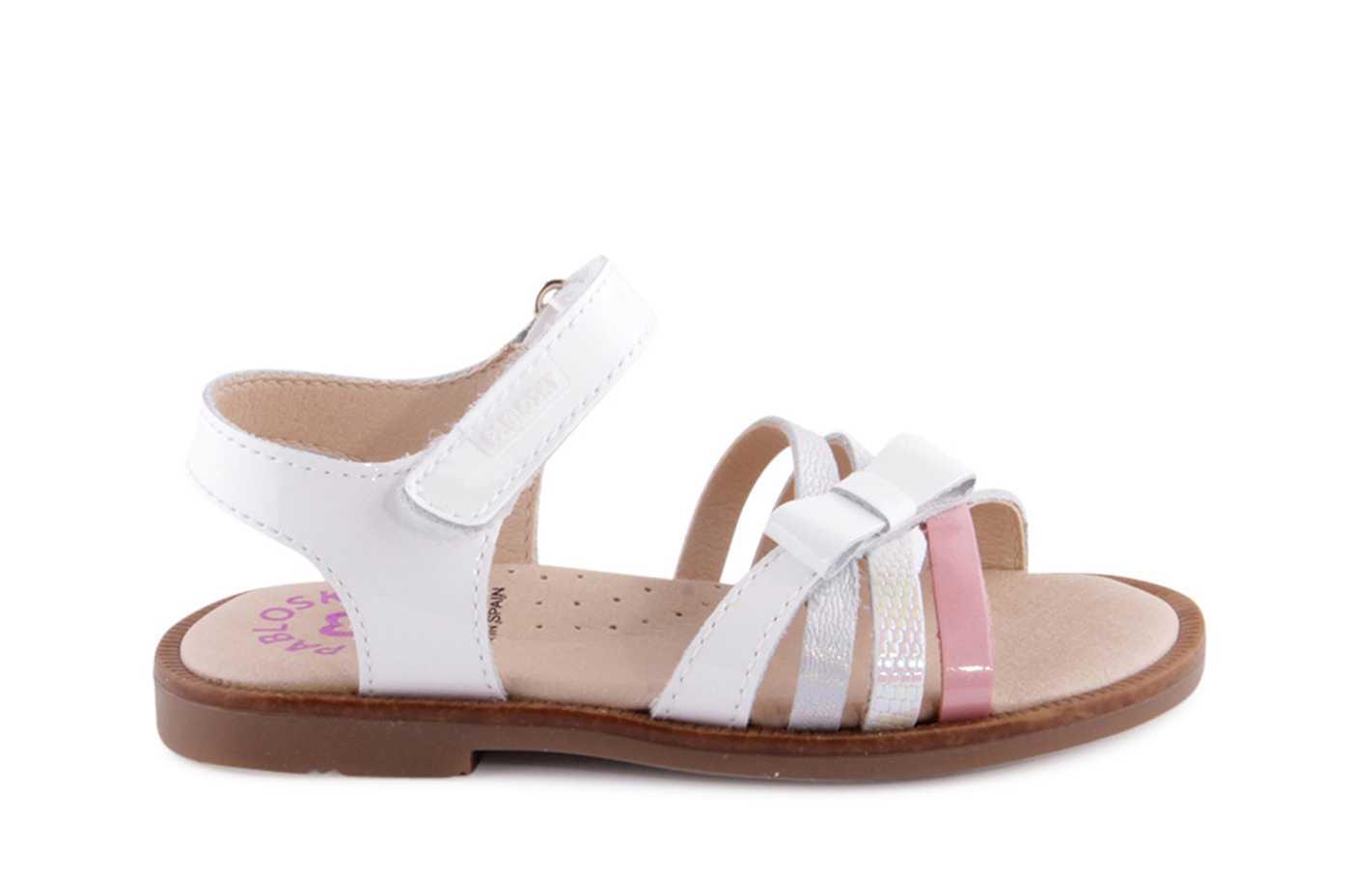 9d7d3496c Comprar zapato tipo JOVEN NIÑA estilo SANDALIA COLOR BLANCO CHAROL ...