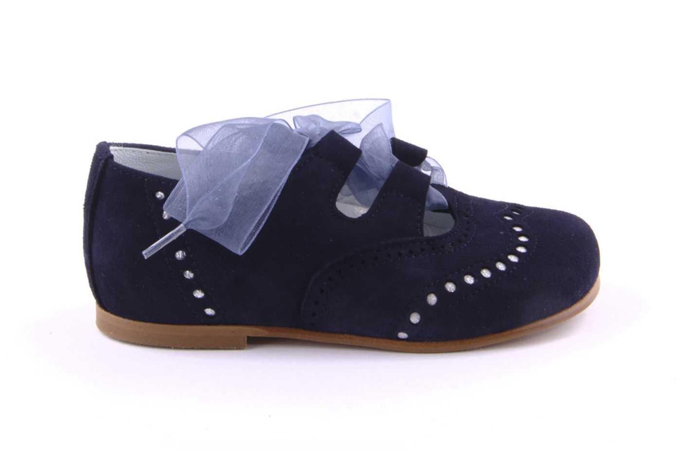 e2f1d0fbaa3c1 Comprar zapato tipo JOVEN NIÑA estilo INGLES COLOR AZUL ANTE ...