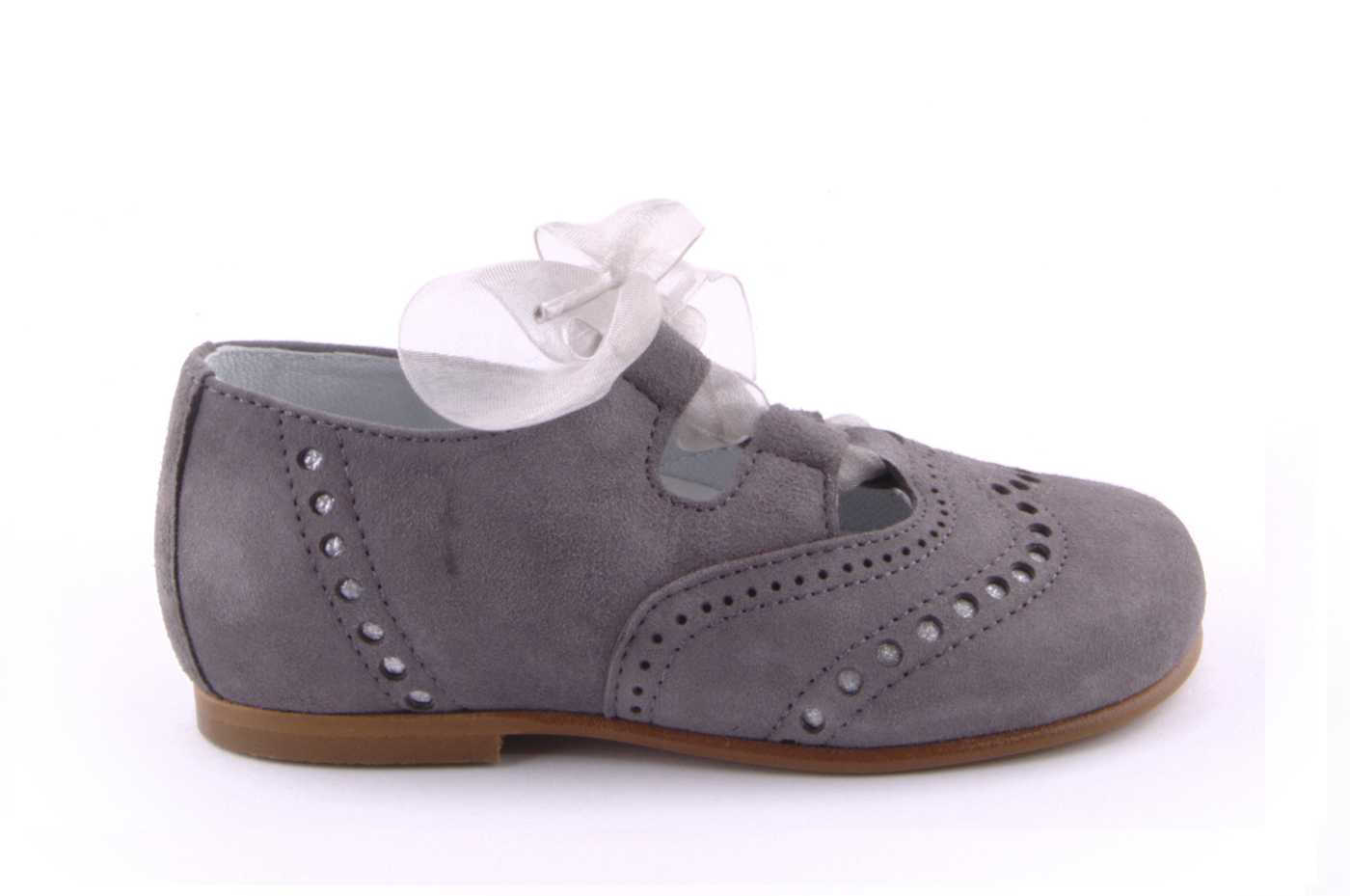5cb90a7a3b5e0 Comprar zapato tipo JOVEN NIÑA estilo INGLES COLOR GRIS ANTE ...