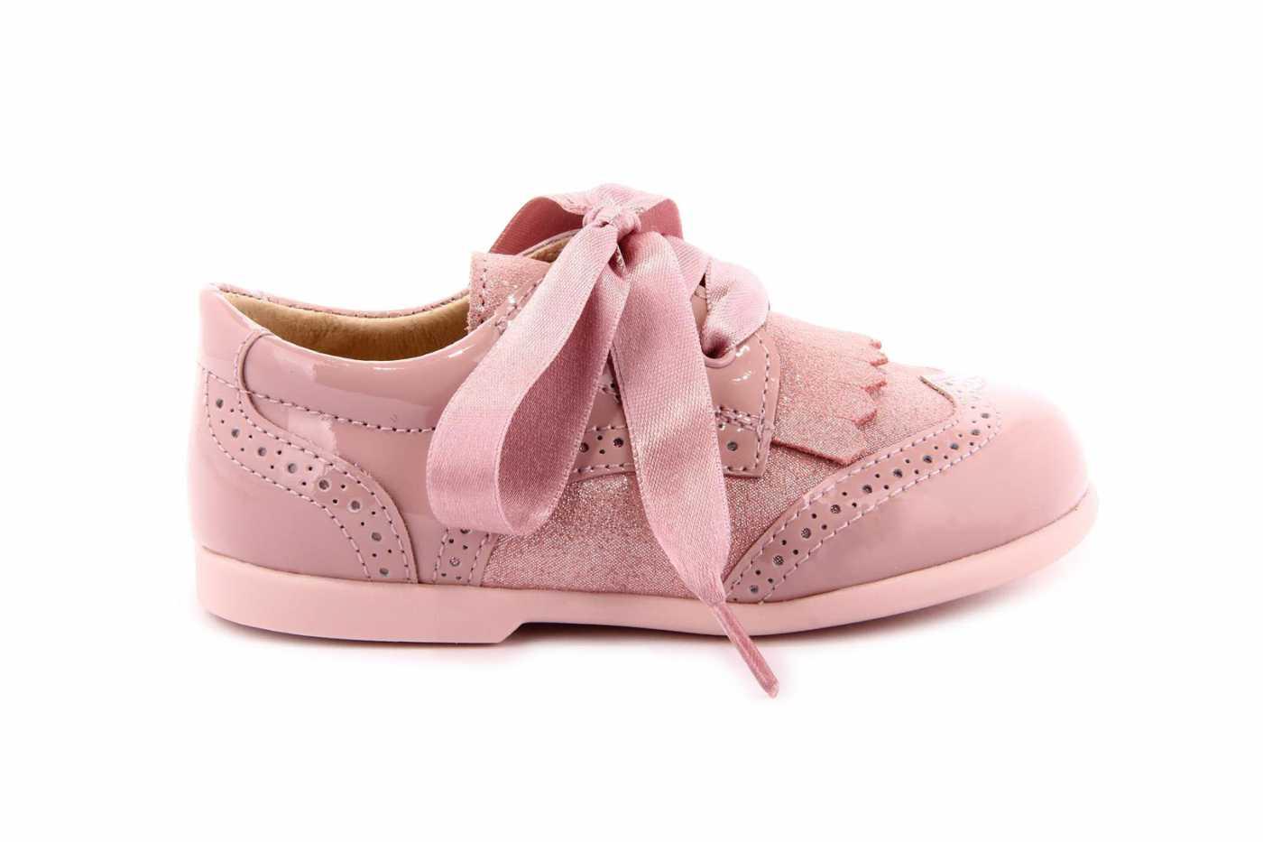 63dbaebc7 Comprar zapato tipo PREANDANTE NIÑA estilo BLUCHER COLOR ROSA CHAROL ...