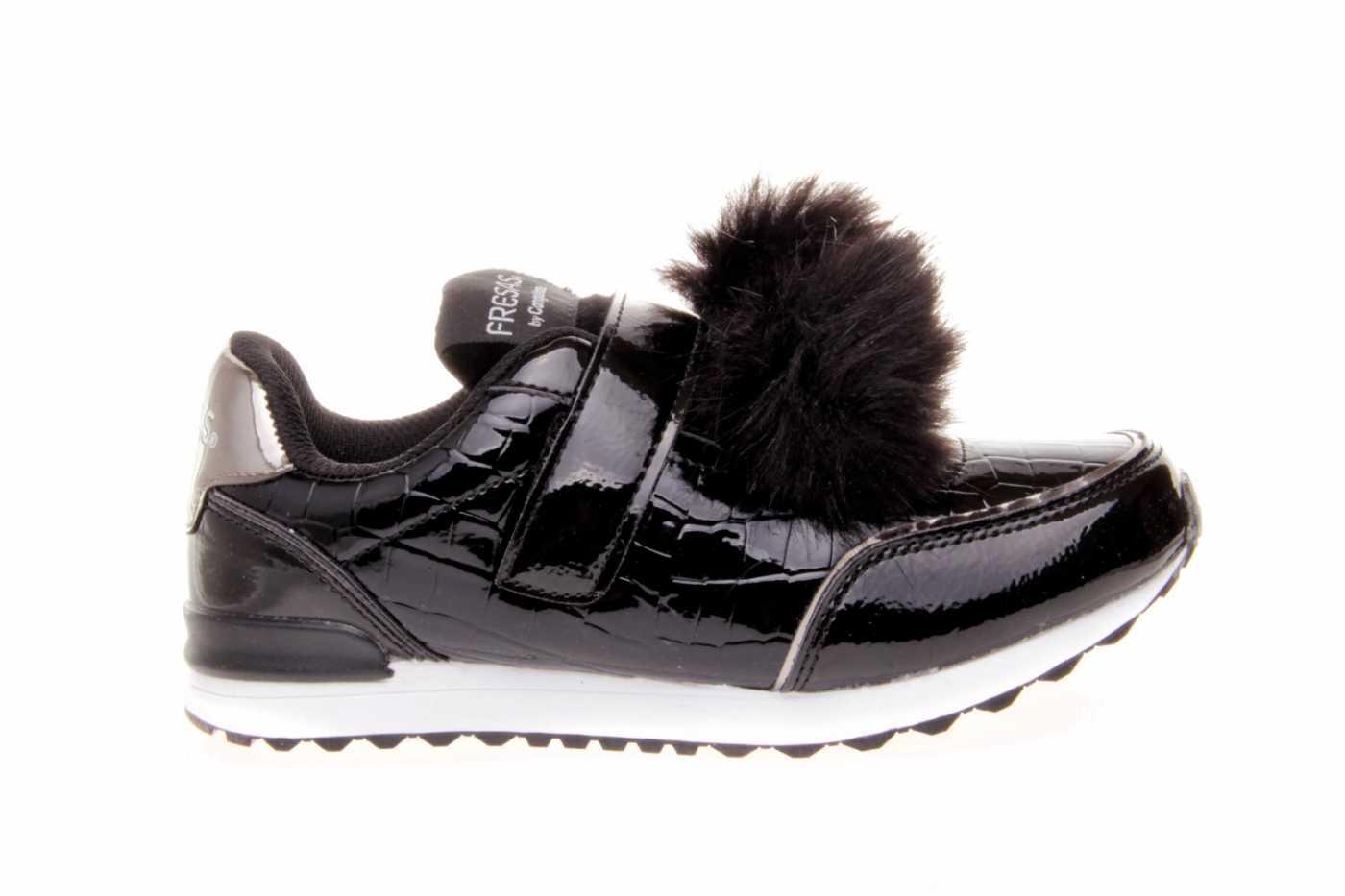 f71c5aeccde Niña Joven Tipo Sneakers Comprar Estilo Color Charol Zapato Negro wRqORXnt5
