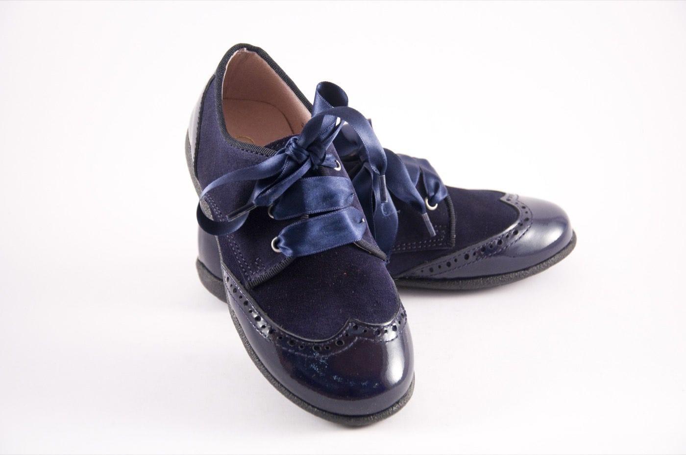 f3e04b631ae Joven Blucher Estilo Charol Color Comprar Azul Niña Zapato Tipo rpHxqrEw5