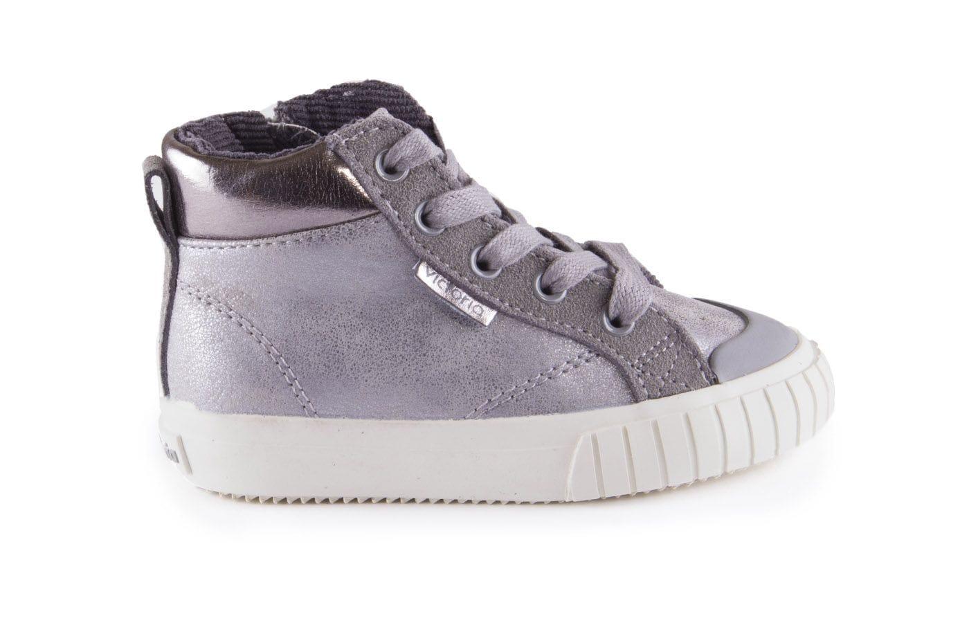 c9829a5ab Comprar zapato tipo JOVEN NIÑA estilo BOTAS COLOR PLATA METALIZADO ...