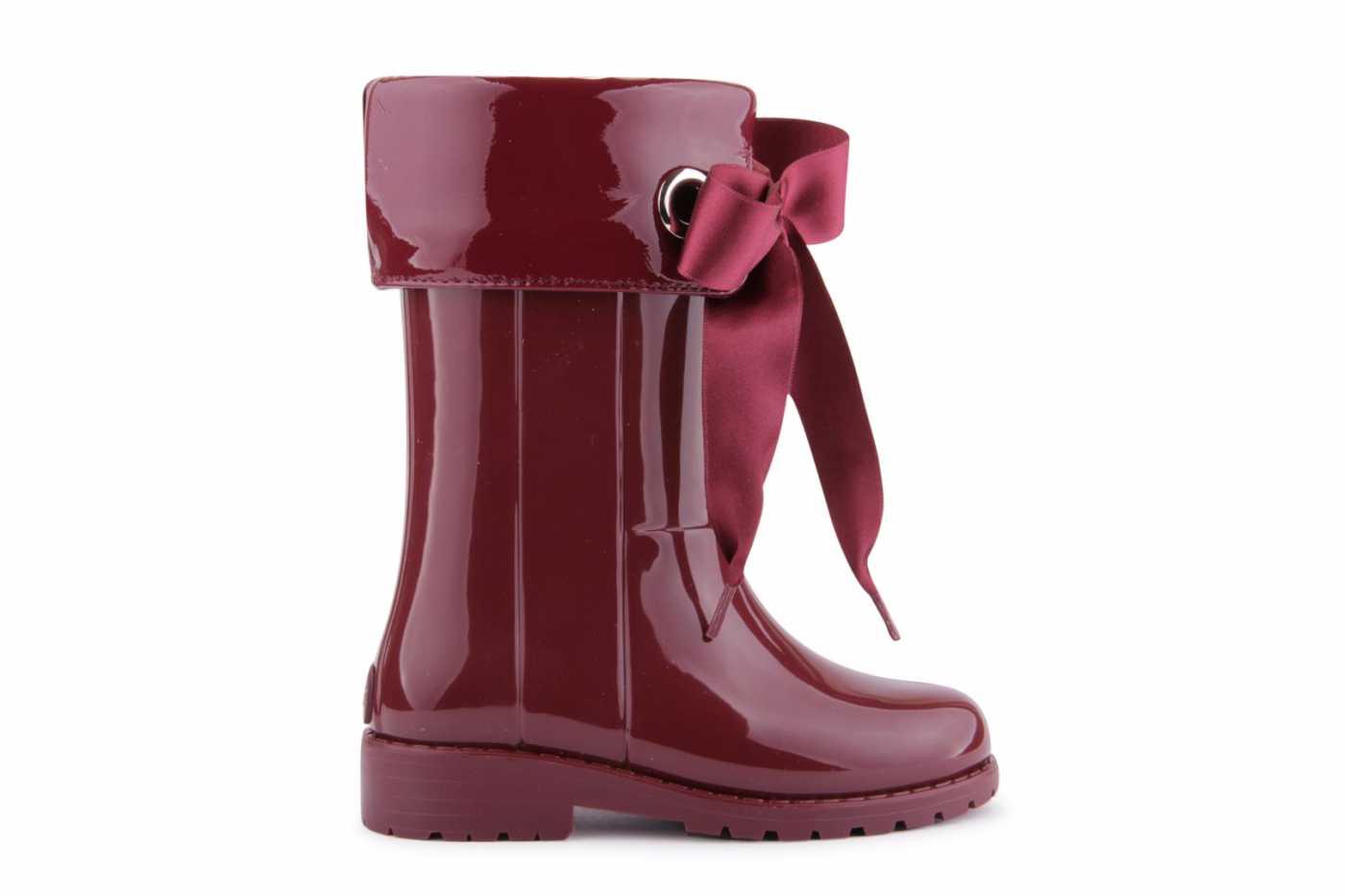 Comprar zapato tipo JOVEN NIÑA estilo BOTA DE AGUA COLOR BURDEOS ... 7018c9120db