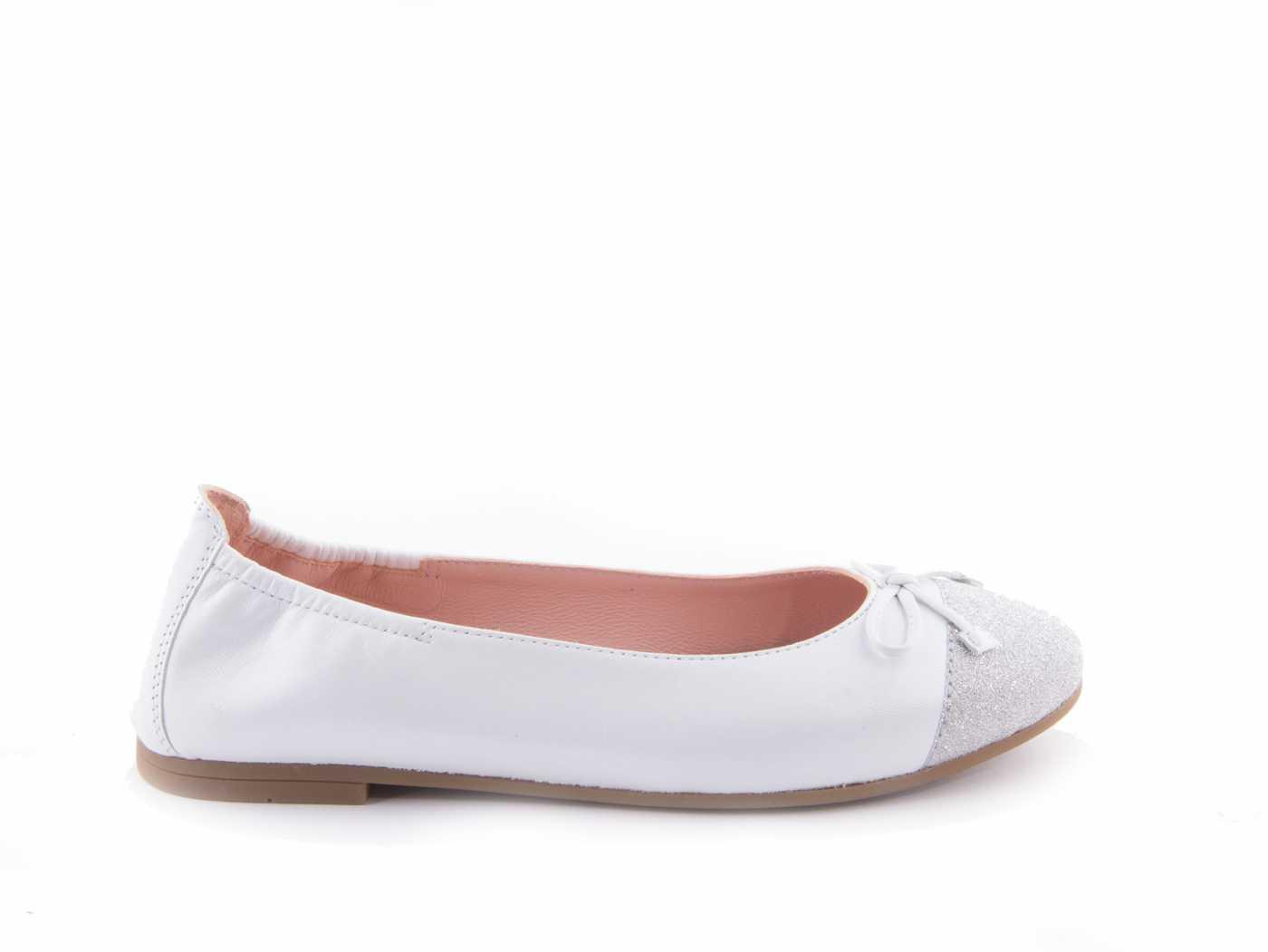 ae8bb61c6 Comprar zapato tipo JOVEN NIÑA estilo MANOLETINAS COLOR BLANCO PIEL ...
