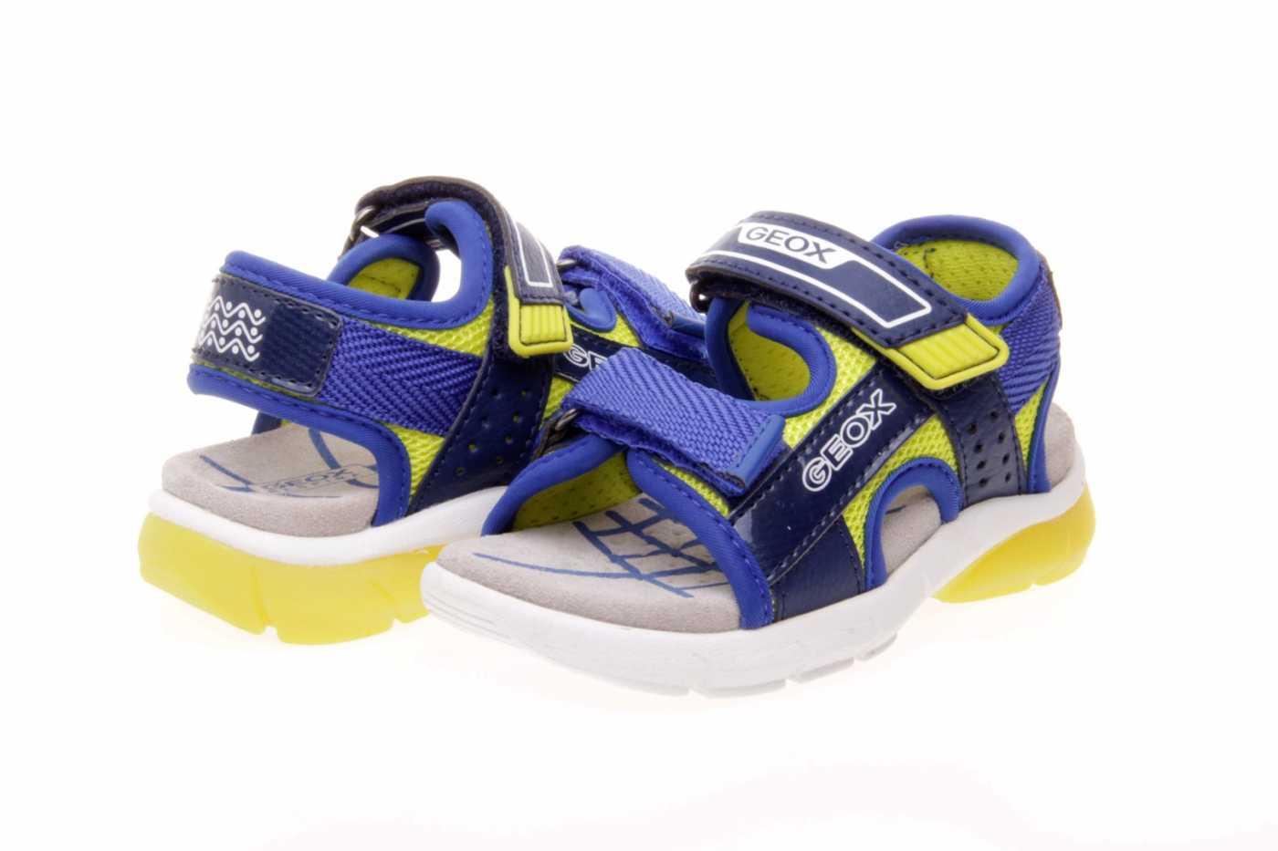 Niño Luces Sandalia Geox Con Velcro Y Doble QdsthrC