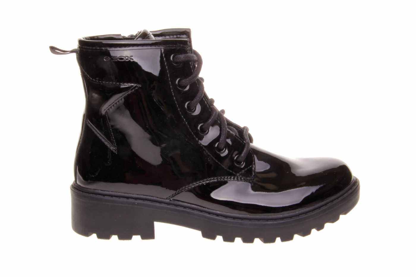 Diariamente Aditivo un millón  Comprar zapato GEOX para JOVEN NIÑA estilo BOTINES-BOTA ALTA color NEGRO  CHAROL